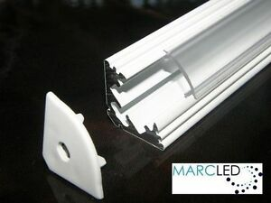 25m p3 led strip light aluminium profile painted white diffuser image is loading 2 5m p3 led strip light aluminium profile aloadofball Images