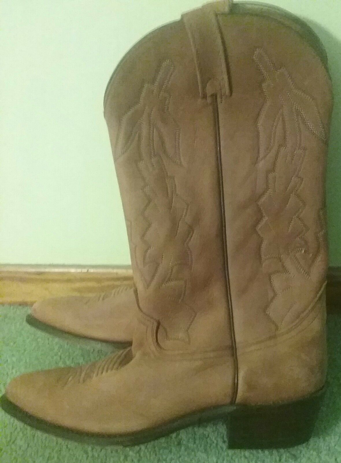 Dan Post Leather Cowboy Boots-New-P2551-Size 12D Marlbgold
