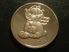 GARFIELD SILVER TOWNE .999 SILVER 1 OZ ROUND COIN IN CLASSIC JIM DAVIS POSE!