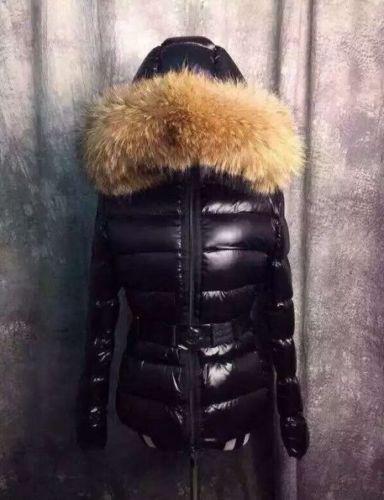 Womens Real fur Collar Jacket Down Hooded Jacket Coat Outwear XS-XL Belt HOT #24