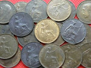 FARTHING COINS - KING GEORGE V 1911 - 1936 inc BETTER GRADES - Pick Your Coins !