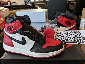 0f2a3f662affdb Nike Air Jordan Retro I 1 High OG 2018 Bred Toe Gym Red Black White ...