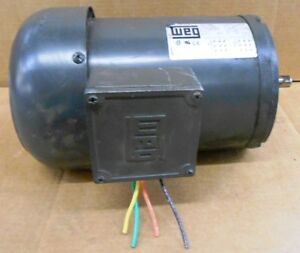 Weg motor 18es3ed56cfl 1 hp 3 phase 1730 rpm kw for 1hp 3 phase motor