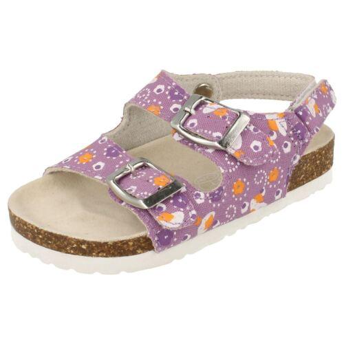 Spot On Girls Twin Buckle Strap Sandals