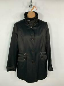 WOMENS-ANDREW-MARC-BLACK-CASUAL-LIGHT-WEIGHT-BUTTON-UP-COAT-JACKET-SIZE-MEDIUM