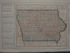 1926 MAP ~ IOWA RINCIPAL CITIES TAMA MADISON SCOTT JEFFERSON