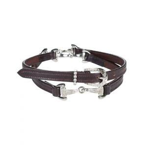 Horze-Crescendo-Sparkling-Crystal-Detailed-Snaffle-Bit-Leather-Belt