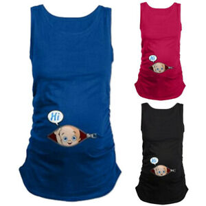 Women-Pregnancy-Maternity-Clothes-Cute-Cartoon-Tank-Vest-Sleeveless-T-Shirt-Tops