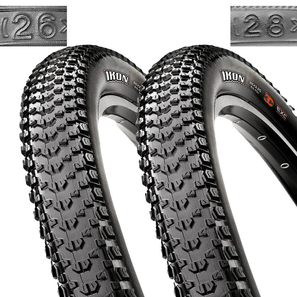2x Maxxis Ikon Draht Dual Dual Dual 26x2 10 54-559 schwarz Fahrrad Reifen Decke Tire 6873f9