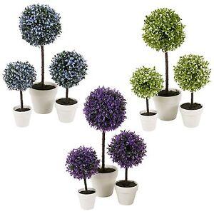 Detalles De Decorativo Artificial Exterior Ball Planta árbol Olla Color Pequeño Medio Grande