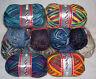 (4,90€/100gr) 50 gr Sockenwolle colori oder mouliné von Rellana Strumpfwolle