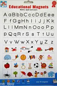 Magnetic Alphabet Aimants de réfrigérateur Apprendre Jouer lettres Toy Kids nursery Correcteur Match  </span>