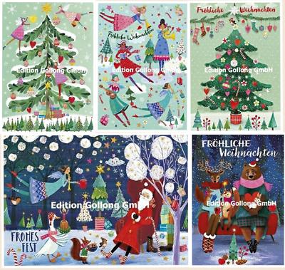 * Mila Marquis * Cartolina * Natale * Glitter * Santa & Angelo Albero * * Foresta Animali * A 6 *-rte*weihnachten*glitzereffekt*santa&engel*baum*waldtiere*a6* It-it Per Soddisfare La Convenienza Delle Persone