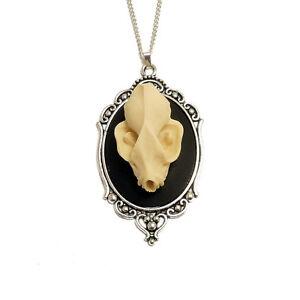 Bat-skull-necklace-gothic-goth-silver-vegan-taxidermy-steampunk-vampire-dracula