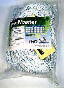 "PM12150 Samson Arborist Rigging Line Pro-Master Rope 1/2"" 150' 3 Strand"