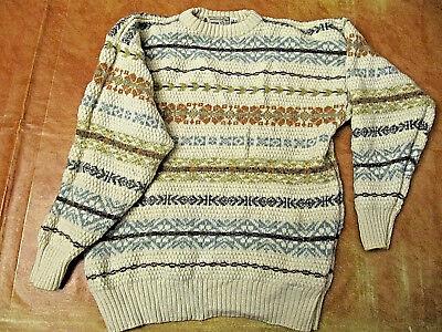 pull tricot vêtement femme taille L pure laine vierge Harris Wilson col rond   eBay