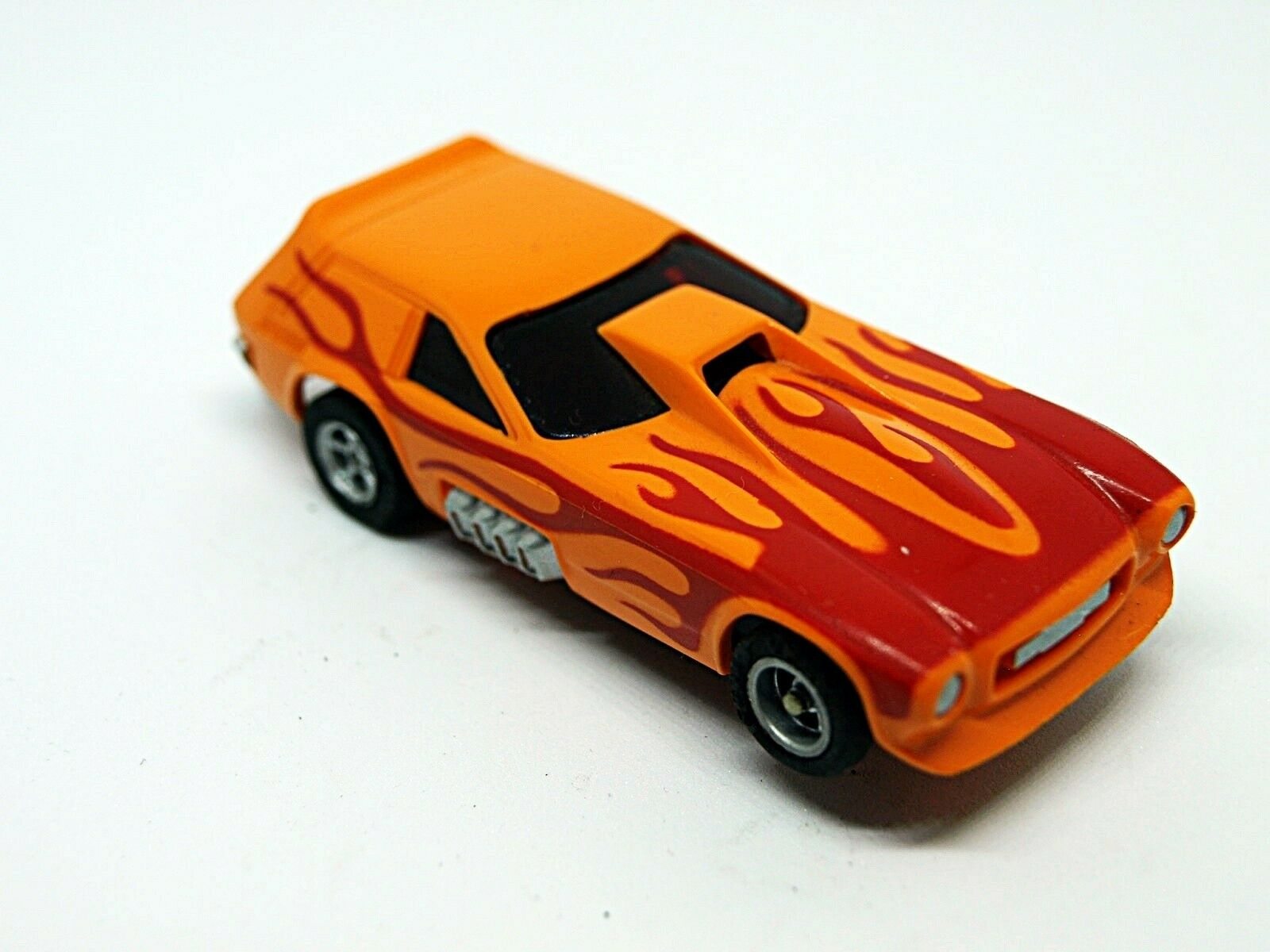 Aurora AFX Ho ranura de coche Vega van Gasser naranja roja llamas con Wheelie bares difícil de encontrar