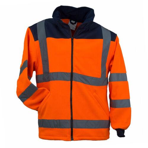 POL-HSV-OR Fleece Warnjacke Winterjacke Warnschutzjacke Arbeitsjacke Orange