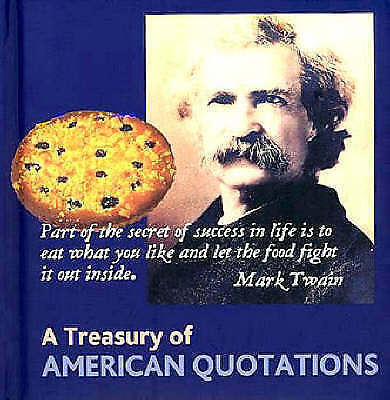 "1 of 1 - ""VERY GOOD"" A Treasury of American Quotations (Book Blocks), , Book"