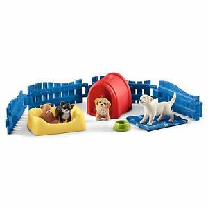 Schleich-42480-Puppy-Pen-Puppies-Dog-Toy-Set-Chihuahua-Labrador-2019-NIP