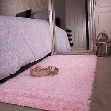 Baby Pink Girls Shaggy Rug for Living Room Bedroom House Floor 60cm ...