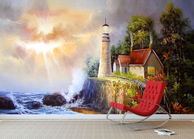 3D Leuchtturm Strand 99 Tapete Wandgemälde Tapete Tapeten Bild Familie DE Summer   Deutschland Shop    Ermäßigung    Elegante Form