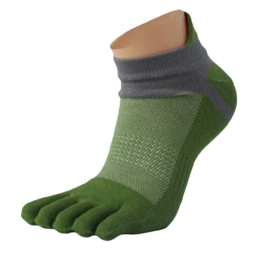 1Pair 2019 Men Comfortable Ventilation Mesh Sports Running Five Finger Toe Socks