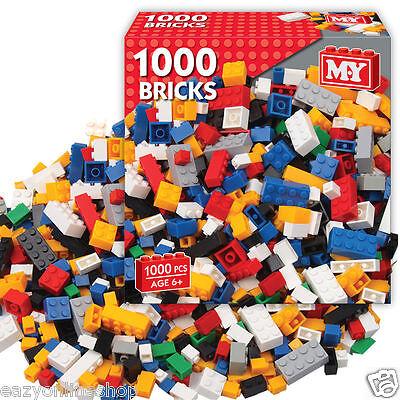 M.Y 1000 PIECE ASSORTED TOY BUILDING CONSTRUCTION BRICKS SET BLOCK BUILDING LEGO