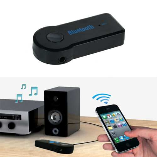 Wireless Bluetooth 3.5mm AUX Audio Stereo Music Car Adapter Receiver Mic Set