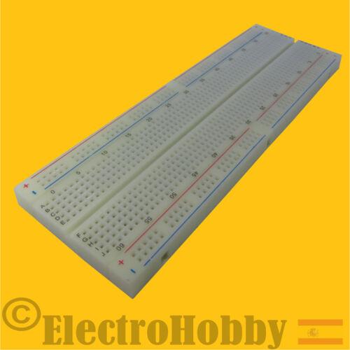 Breadboard Electronica y Arduino Protoboard MB-102 Prototipos 830 conexiones