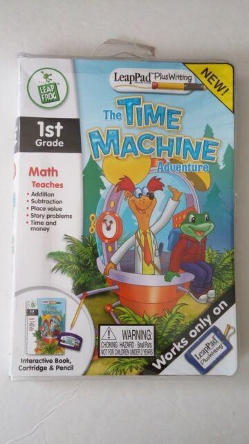 Leap Frog Leap Pad Plus Writing Math The Time Machine Adventure Book Cartridge