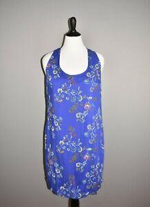 OLD-NAVY-NEW-30-Blue-Floral-Sleeveless-Racerback-Shift-Dress-Large