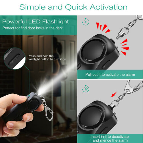 ORIA Personal Safety Loud Alarm 130db Police Keychain Security Panic Rape Attack