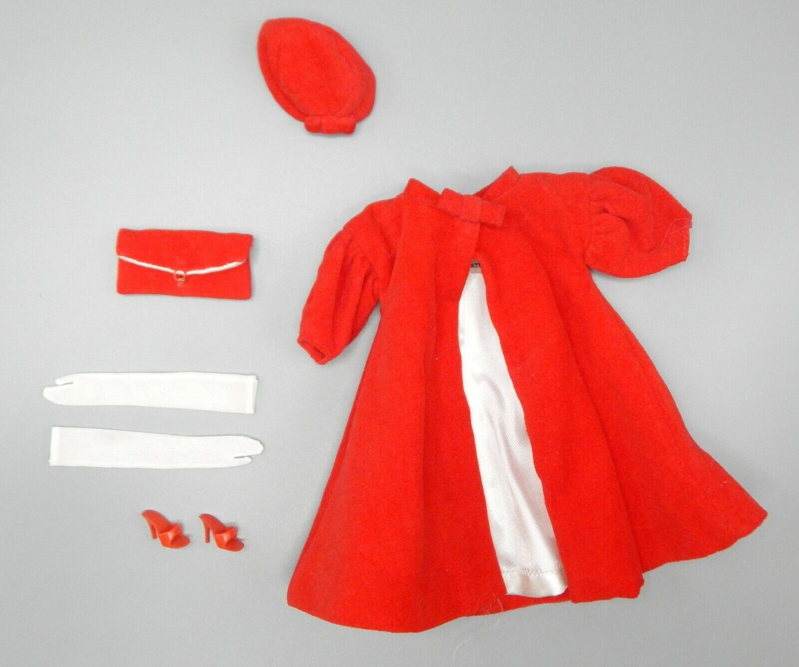 1962-1965 Jahr Mattel Barbie rot FLARE outfit 939 complete nice original