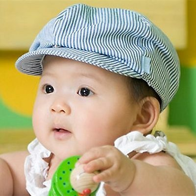 kids Boys Girls Summer sun cool handsome Cabbie Golf Pageboy Beret Hat Cap
