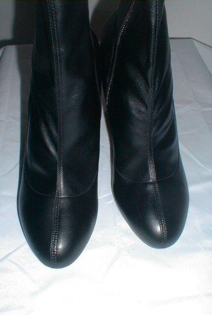 STELLA MCCARTNEY TRIANGLE BLOCK HEEL MID CALF Stiefel EURO Größe Größe Größe 38.5 = US 8.5 44a99e