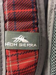 HIGH-SIERRA-Red-amp-Navy-Blue-Hiking-Backpack-Outdoors-School-Book-Computer-Bag