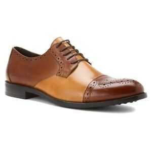 Cognac Taupe Stacy Adams Mens Granville Oxfords