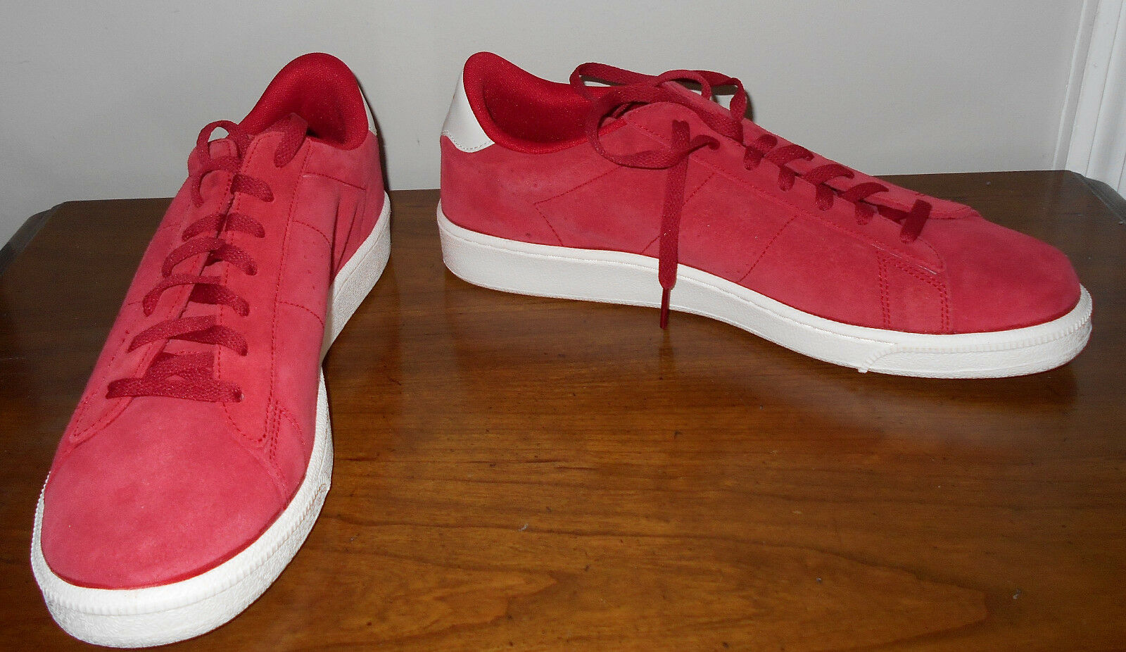 Nike Classic CS Suede Varsity Red Ivory Casual shoes Size 11.5 NWOB 829351 600