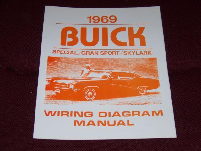 1969 Buick Wiring Diagram Manual Gs Skylark Special 69