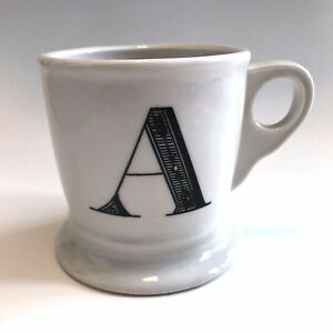Details About Anthropologie Monogram Coffee Mug Cup Initial Letter A Ceramic 14 Oz