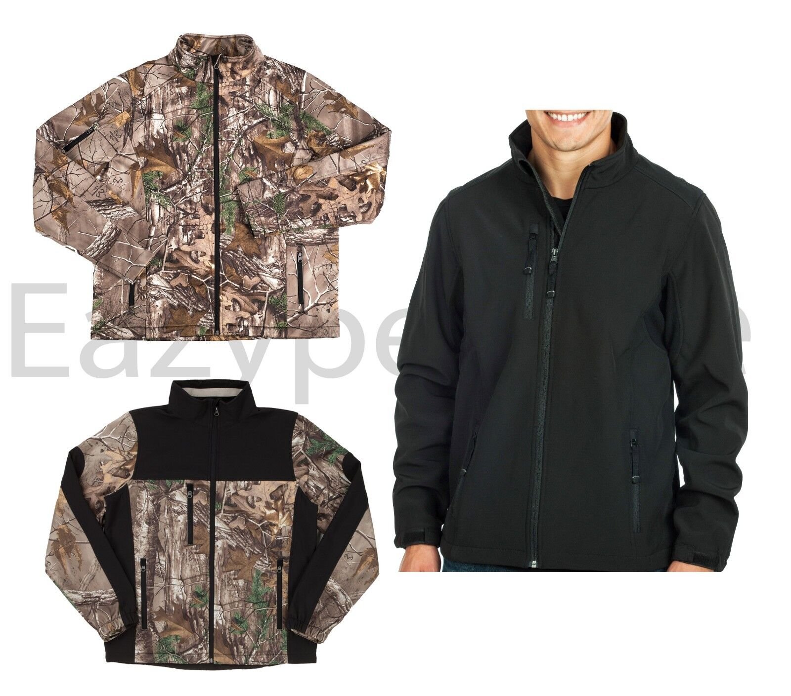 Peaches - Realtree Xtra, Hunt Camouflage, Noir, Tissu Softshell Veste Active,
