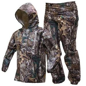 Frogg Toggs Youth Realtree Xtra Camo Rain Suit Kids Polly Woggs