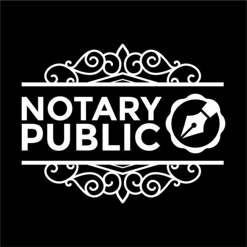 Business Sign Notary Public Decal Sticker Door Store Window Decal