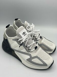 NEW Adidas ZX 2K Boost Men's Athletic Shoe Black White Running Sneaker Trainers