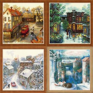 RIOLIS-Cityscapes-Counted-Cross-Stitch-Kits