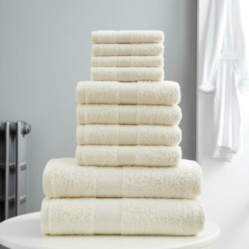 10Pc Bale Toronto Solid Stripe Bath Towels Sheet 100/% Egyptian Cotton Super Soft