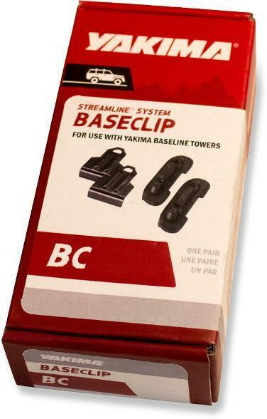 Yakima Baseline BaseClips - multiple sizes, new in box, sold as pair Streamline