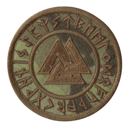 valknut runic viking heathen norse multicam embroidered morale tactical patch