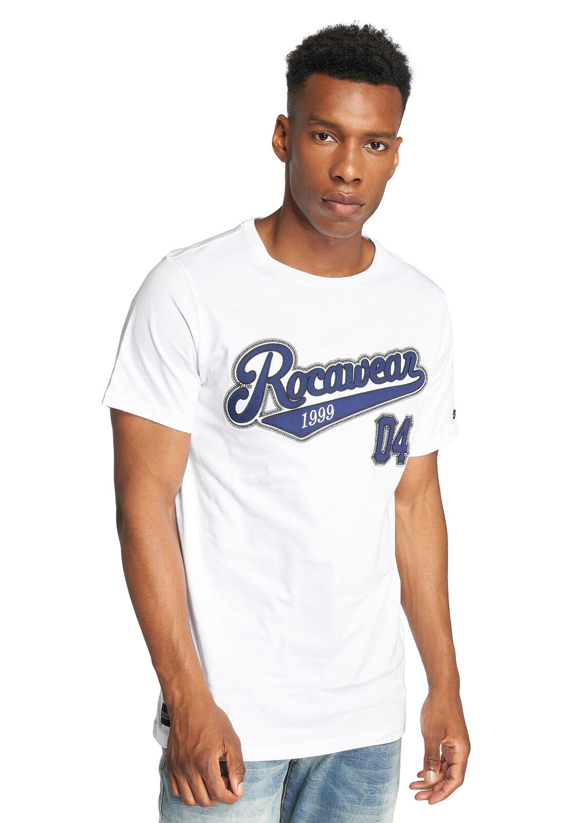 Rocawear T-Shirt Uomo Ohfour Rwts021wht Bianco